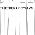 Bảng thông số thiết kế rập quần nữ cho người Việt.