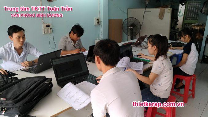 Lớp thiết kế rập, sơ đồ vi tính Toán Trần VP Bình Dương