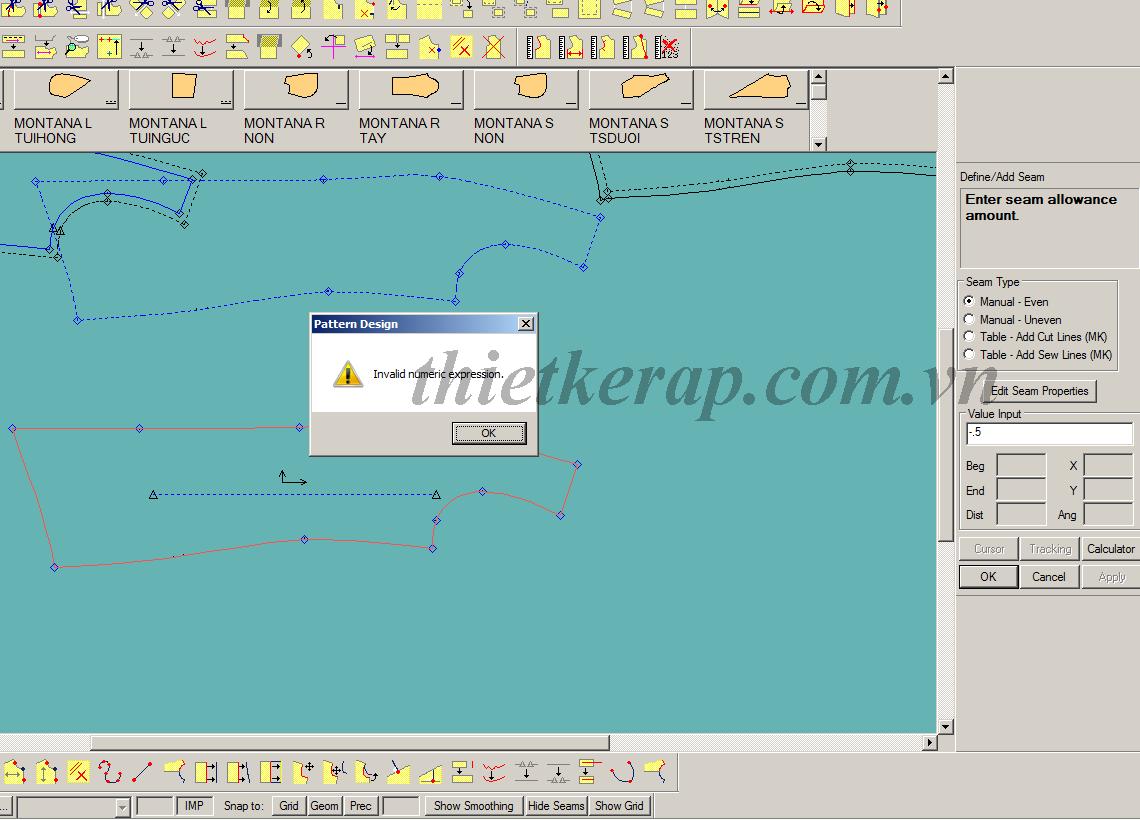 Đổi cách nhập dấu phẩy qua dấu chấm trong phần mềm thiết kế rập gerber accumark0