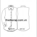 Bảng size thiết kế rập áo sơ mi nữ dành cho người Việt Nam.