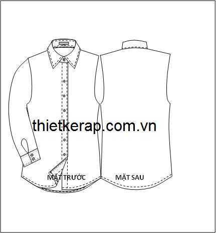 Thông số thiết kế rập áo sơ mi nữ-Việt Nam
