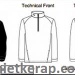 Bảng thông số áo jacket UM04349