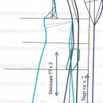 Cách thiết kế rập áo măng tô nữ-công thức thiết kế rập thân trước