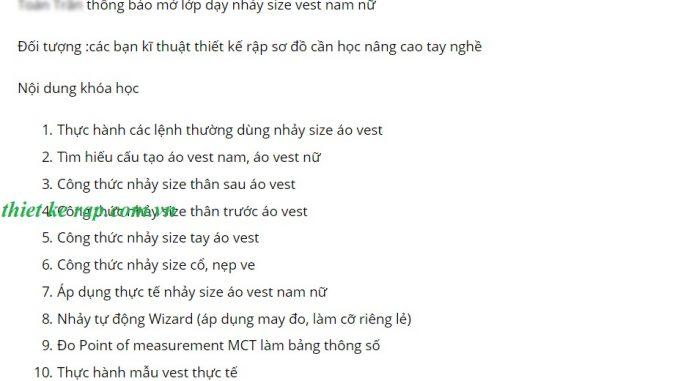 Lớp nhảy size áo vest học phí rẻ ở Sài Gòn