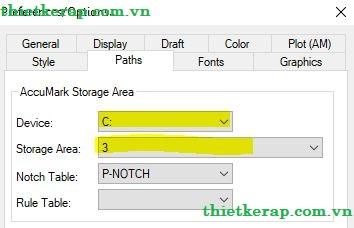 Error default storage area paths