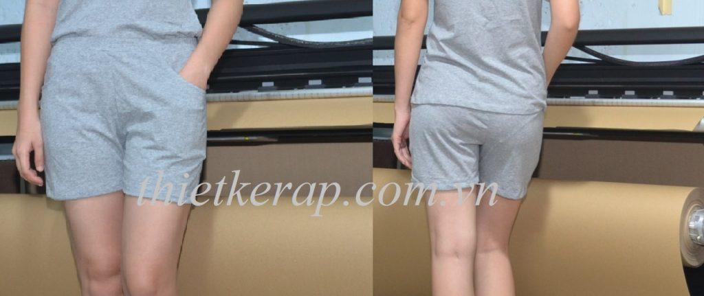 Rập quần đùi nữ