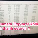 Fix lỗi Accumark explorer không hiện thanh search ?